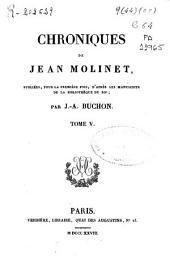 Chroniques de Jean Molinet: Volume5