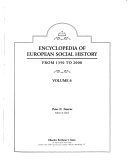 Encyclopedia of European Social History from 1350 to 2000: Biographies, contributors, index