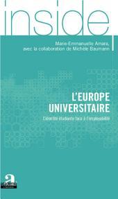 L'Europe universitaire: L'identité étudiante face à l'employabilité