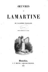 Oeuvres de Lamartine de l'académie Française: éd. complète en un volume