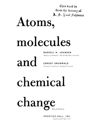 Atoms, Molecules, and Chemical Change