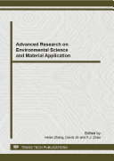 Advanced Research on Environmental Science and Material Application