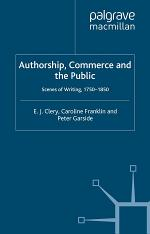 Authorship, Commerce and the Public