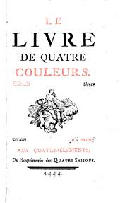 Le livre de quatre couleurs...