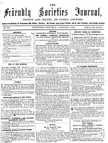 The Friendly societies  and licensed victuallers  journal  freehold land  building  and general advertiser  afterw   The Friendly societies  journal  with which is incorporated The Friendly societies  gazette   PDF
