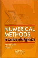 Numerical Methods for Equations and its Applications PDF