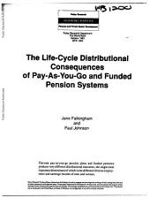 The Life-cycle Distributional Consequences of Pay-as-you-go and Funded Pension Systems: A Microsimulation Modelling Analysis, Issue 1200