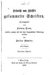 Heinrich von Kleist's gesammelte Schriften: Band 3