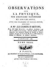 Observations et memoires sur la physique, sur l'histoire naturelle, et sur les arts et metiers: Volume32
