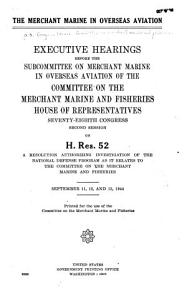 The Merchant Marine in Overseas Aviation