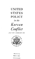 United States Policy in the Korean Conflict  July 1950 February 1951 PDF