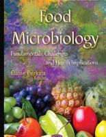 FOOD MICROBIOLOGY FUNDAMENTALS  CHALLENGES AND HEALTH IMPLICATIONS PDF
