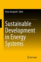 Sustainable Development in Energy Systems PDF