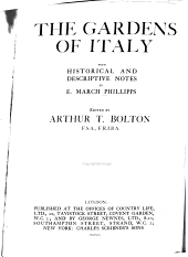 The gardens of Italy: with historical and descriptive notes