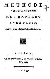 Méthode pour réciter le chapelet avec fruit