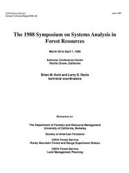 The 1988 Symposium on Systems Analysis in Forest Resources PDF