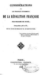 Considérations sur les principaux évènements de la Révolution française