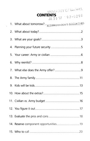 The Army Career Planner