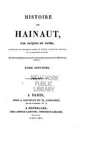 Histoire de Hainaut: Volume7
