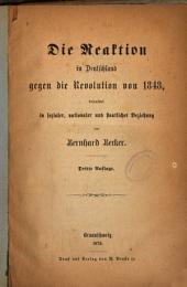 Die Reaktion in Deutschland gegen die Revolution von 1848: beleuchtet in sozialer, nationaler und staatlicher Beziehung