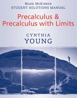 Precalculus  Student Solutions Manual PDF