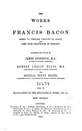 The Works of Francis Bacon: Volume 11
