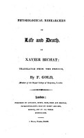 Physiological Researches on Life and Death PDF