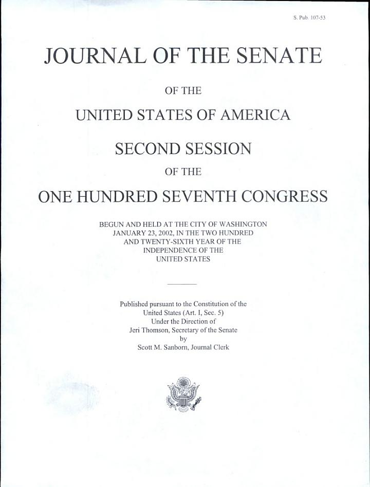 Journal of the Senate of the United States of America