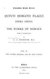 Opera Omnia, Works: Satires. Epistles. De arte poetica