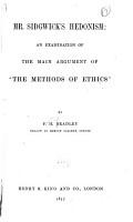 Mr  Sidgwick s Hedonism PDF