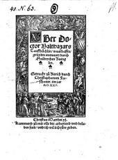 Vber Doctor Balthazars Touffbüchlin, waarhaffte, gründte antwurt
