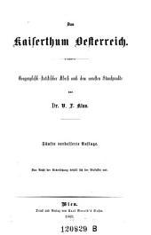 Das Kaiserthum Oesterreich. Geographischstatistischer Abriß. - 5. Aufl