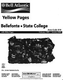 Bellefonte  State College and Nearby Points Telephone Directory PDF