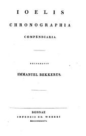 Corpus scriptorum historiae byzantinae: Ioelis Chronographia compendiaria