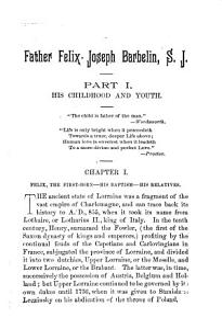 A Memoir of Father Felix Joseph Barbelin  S  J  PDF