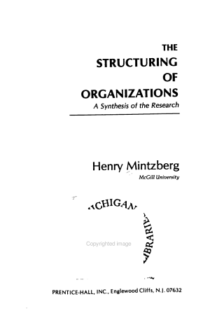 The Structuring of Organizations