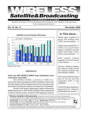 Wireless Satellite Monthly Newsletter November 2009 PDF