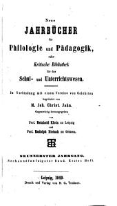Neue Jahrbücher für Philologie und Paedagogik: Band 56