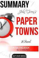 Download John Green s Paper Towns Summary Book