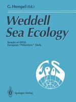 Weddell Sea Ecology PDF