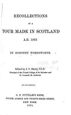 Recollections of a Tour Made in Scotland A D  1803 PDF