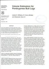 Volume estimators for pondcypress butt logs