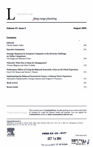 Long Range Planning PDF