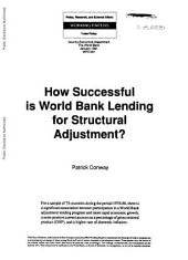 How Successful is World Bank Lending for Structural Adjustment?