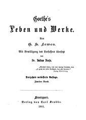 Goethe's Leben und Werke: Band 2