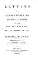 Letters To Edward Gibbon  Esq  Author Of The History Of The Decline  And Fall  Of The Roman Empire PDF