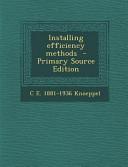 Installing Efficiency Methods   Primary Source Edition