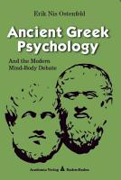 Ancient Greek Psychology PDF