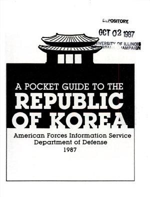 A Pocket Guide to the Republic of Korea PDF