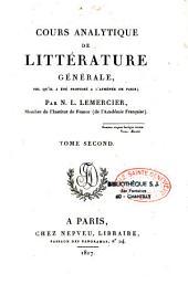 Cours analytique de littérature génèrale